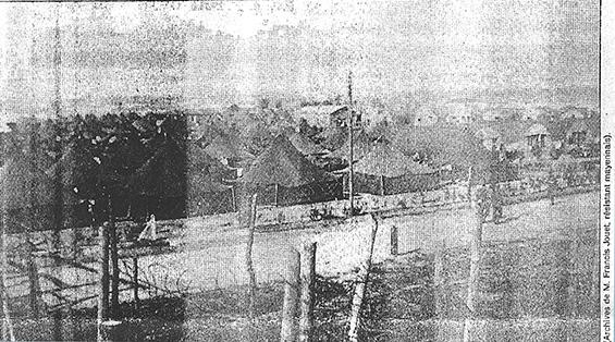 Image en noir et blanc du camps de Mulsanne lors de la guerre